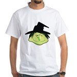 Happy Green Witch White T-Shirt