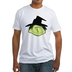 Happy Green Witch Fitted T-Shirt