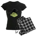 Happy Green Witch Women's Dark Pajamas