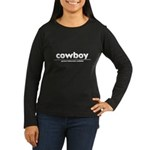 generic cowboy costume Women's Long Sleeve Dark T-Shirt