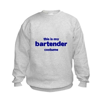 this is my bartender costume Kids Sweatshirt