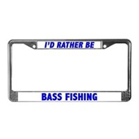 Bass Fishing License Plate Frames