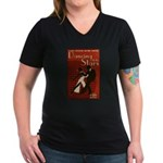 Distressed Retro DWTS Poster Women's V-Neck Dark T-Shirt