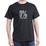 0% Available Black T-Shirt
