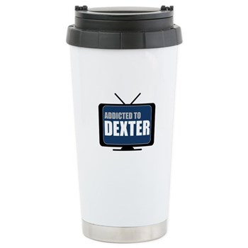 Addicted to Dexter Ceramic Travel Mug