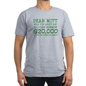 Mitt Will You Adopt Me? Men's Fitted T-Shirt (dark