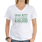 Mitt Will You Adopt Me? Women's V-Neck T-Shirt
