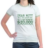 Mitt Will You Adopt Me? Jr. Ringer T-Shirt