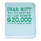 Mitt Will You Adopt Me? baby blanket