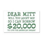 Mitt Will You Adopt Me? Car Magnet 20 x 12