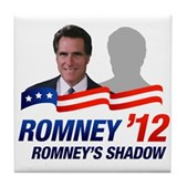 Anti-Romney Shadow Tile Coaster