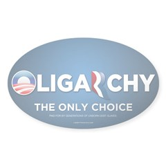 Oligarchy 2012 Sticker (Oval 50 pk)
