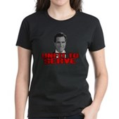 Anti-Romney: Unfit To Serve Women's Dark T-Shirt