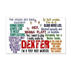 Dexter Quotes Collage 20x12 Wall Decal