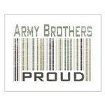 Military Army Brothers Proud Small Poster