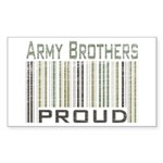 Military Army Brothers Proud Sticker (Rectangular)