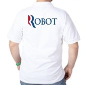 Anti-Romney ROBOT Golf Shirt