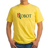 Anti-Romney ROBOT Yellow T-Shirt