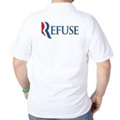 Anti-Romney Refuse Golf Shirt