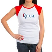 Anti-Romney Refuse Women's Cap Sleeve T-Shirt