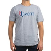 Anti-Romney Remote Men's Fitted T-Shirt (dark)
