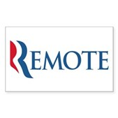 Anti-Romney Remote Sticker (Rectangle)