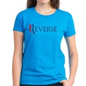 Anti-Romney Reverse Women's Dark T-Shirt