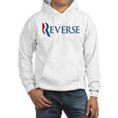 Anti-Romney Reverse Hooded Sweatshirt