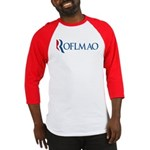 This anti-Romney design is a spoof of the Mitt Romney 2012 campaign logo. Instead of the candidate's name, we have the internet abbreviation ROFLMAO. A Mittens presidency? Makes me laugh my ass off!