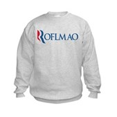 Anti-Romney ROFLMAO Kids Sweatshirt