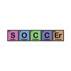 Soccer made of Elements Colors 36x11 Wall Decal