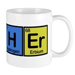 Teacher made of Elements colors Mug