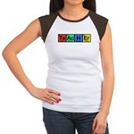 Teacher made of Elements colors Women's Cap Sleeve T-Shirt