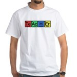 Teacher made of Elements colors White T-Shirt