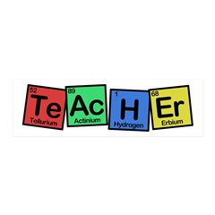Teacher made of Elements whimsy 20x6 Wall Decal