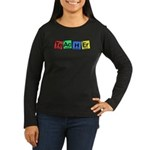Teacher made of Elements whimsy Women's Long Sleeve Dark T-Shirt