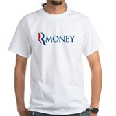 Anti-Romney RMONEY White T-Shirt