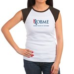 This anti-Romney design is a spoof of the Mitt Romney 2012 campaign logo. Instead of the candidate's name, we have the (compound) word ROBME with subtitle