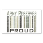 Military Army Reserves Proud Sticker (Rectangular)