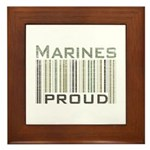 Marines Proud Military Framed Tile