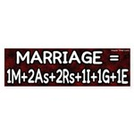 Definition of Marriage Formula Sticker