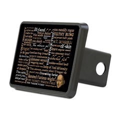 Shakespeare Insults T-shirts & Gifts Rectangular Hitch Cover