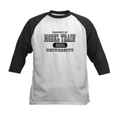 Model Train University  Kids Baseball Jersey