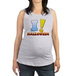 I ! Halloween Maternity Tank Top