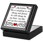 Army Poem of Love Keepsake Box