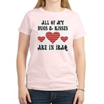 Hugs & Kisses - Iraq Women's Pink T-Shirt
