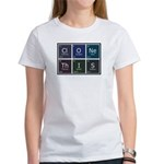 Women's T-Shirt : Sizes Small,Medium,Large,X-Large,2X-Large  Available colors: White