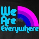 We Are Everywhere Bi Pride Long Sleeve Dark T-Shir