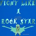 Ovarian Cancer Rock Star T-Shirt