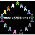BEATCANCER.NET Gel Mouse Pad White T-Shirt